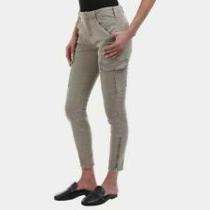 J Brand Women's Green Mid-Rise Houlihan Cargo Pant